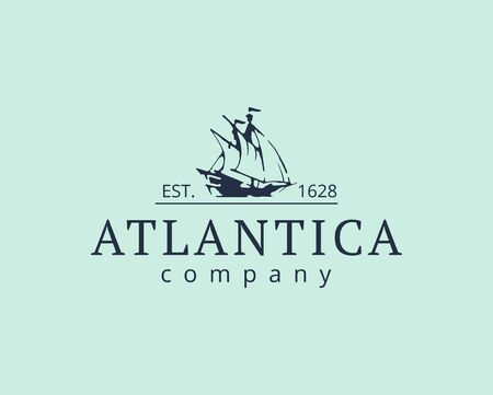 design of the Atlantic. Ship icon Vector illustration