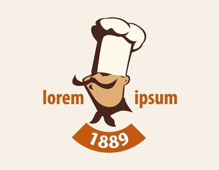 stock vector illustration logotype gastronomy cookery vintage. Retro style Banco de Imagens - 148715206