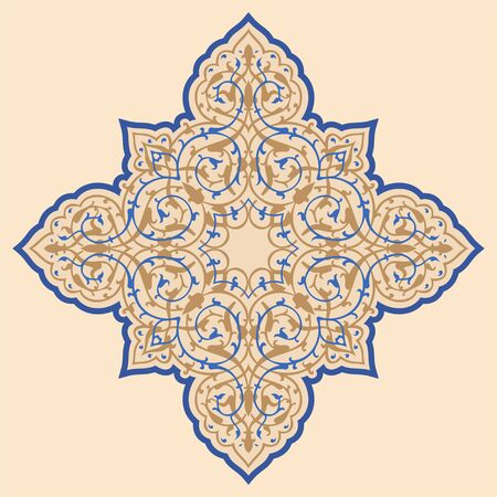 Oriental islam ornament star. Vintage style. Vector illustration