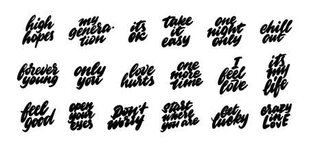 A set of stickers for social networks. Popular colloquial phrases in English.