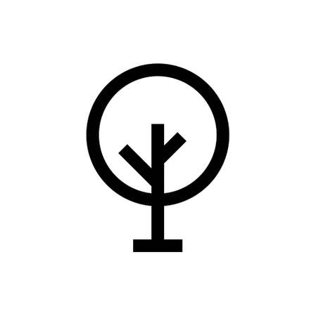 Outline bold icon. Garden emblem. Isolated on white. Vector clipart