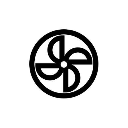 Outline icon. Propeller emblem Vector illustration