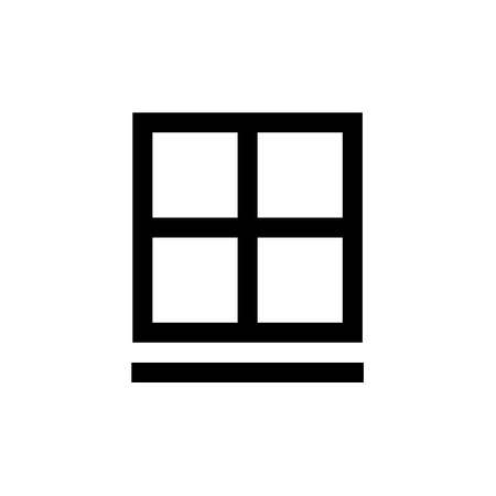 Outline icon. Window emblem. Isolated on white. Vector clipart
