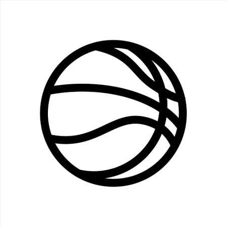 Basketball ball icon flat isolated on white background. For use in web design, applications, software, printing. Vector clipart.