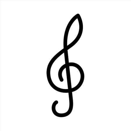 Classic treble clef symbol for websites and music applications.