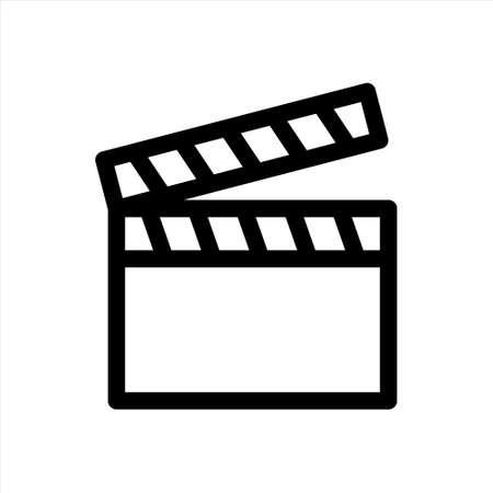 Stripe graphic sign on white background for cinematography, print, websites. Vector illustration.