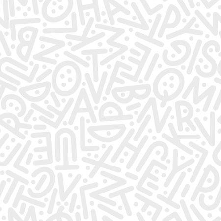 A pattern of letters of the English alphabet in random order. Vector illustration. Ilustração