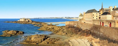 The National Fort in front of St. Malo in Brittany, France.