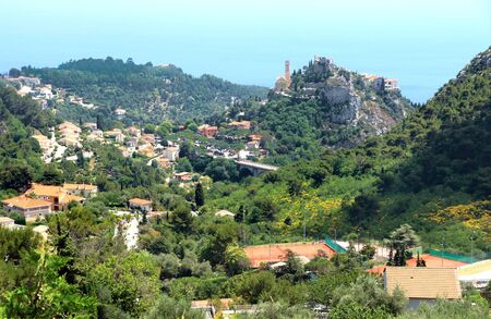 Valley and hills in Eze on the French Riviera