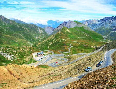 View of the Alpes de Haute-Savoie from the Col du Galibier.