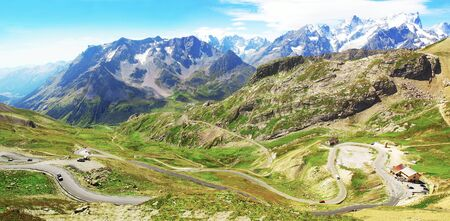 Massif of Oisans in the Alps in France.