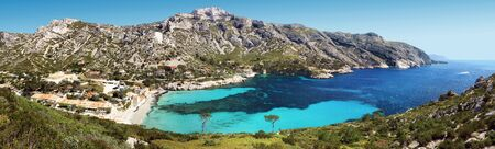 Calanque and village of Sormiou in Provence France