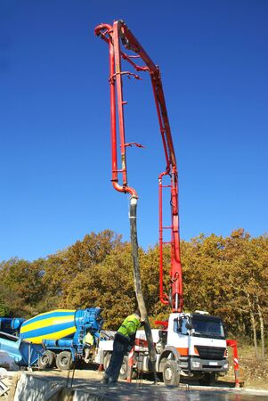 Concrete company on a construction site