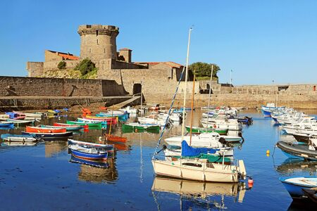 Fort and port of Socoa in Ciboure in Basque country, France.