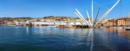 Panorama of the port of Genoa