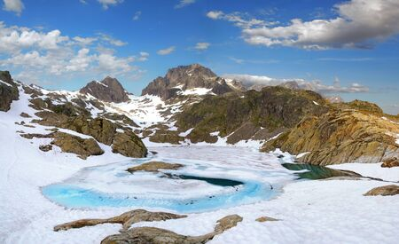 The white lake in the French Alps near Chamonix
