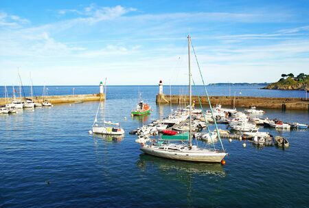 Small marina of Belle Ile en Mer in Brittany, France