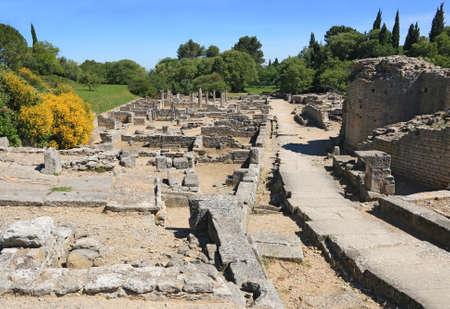 Roman remains of the Glanum site in Saint-Rémy de Provence.