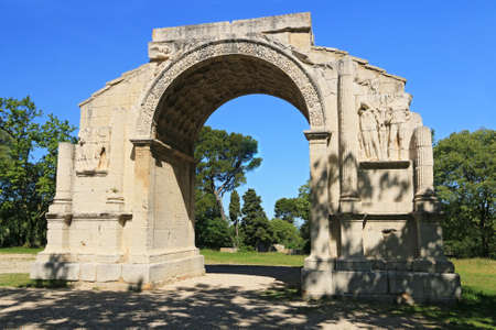 Triumphal arch of the Antiques of Saint-Rémy-de-Provence.