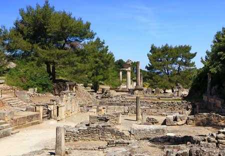 Roman remains of the Glanum site in Saint-Rémy de Provence