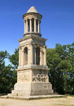 Mausoleum of the antiques of Saint-Rémy-de-Provence.