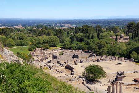 The Roman archaeological site of Glanum in Saint-Rémy de Provence.
