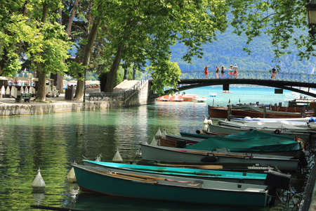 Romantic footbridge named Pont des Amours, in Annecy.