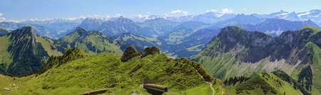 Panoramic view of the rocks of Naye, in Switzerland, near Lake Geneva. Archivio Fotografico