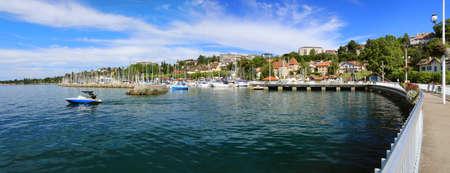 Thonon-les-Bains fishing and marina port on the shores of Lake Geneva