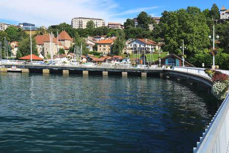 Thonon-les-Bains fishing and marina port on the shores of Lake Geneva.