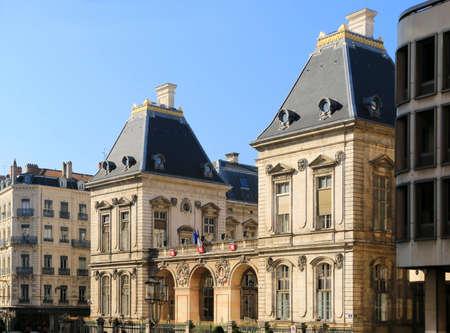 Facade of Lyon city hall on the Place de la Comédie.
