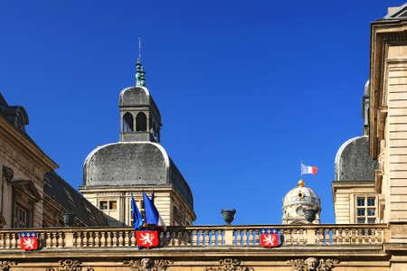 Roofs of the town hall of Lyon on the Place de la Comédie. Archivio Fotografico