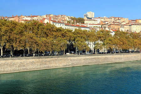 The picturesque district on the hill of La Croix Rousse, on the banks of the Saône in Lyon
