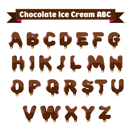 dessert sweet letters for branding