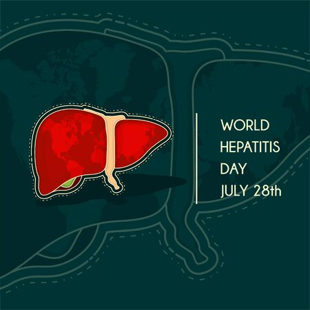 World Hepatitis Day Vector design for banner or poster template Illustration