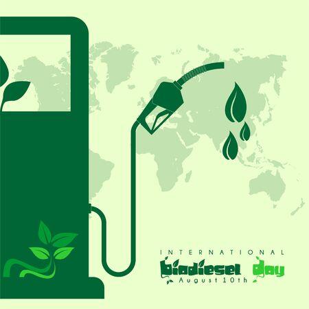 International Biodiesel Day vector design