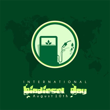 International Biodiesel Day icon logo vector design