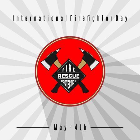 International Firefighter Day vector logo design