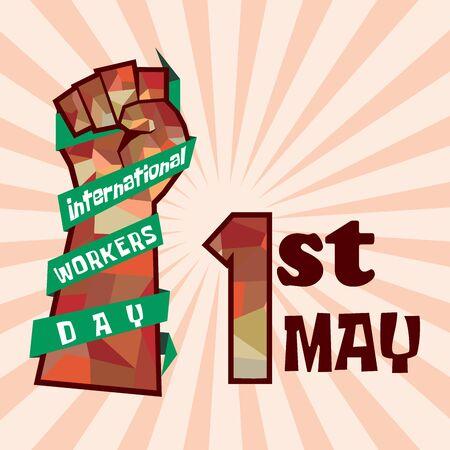 Día internacional del trabajador, día del trabajo, día del trabajo, mayday Ilustración de vector