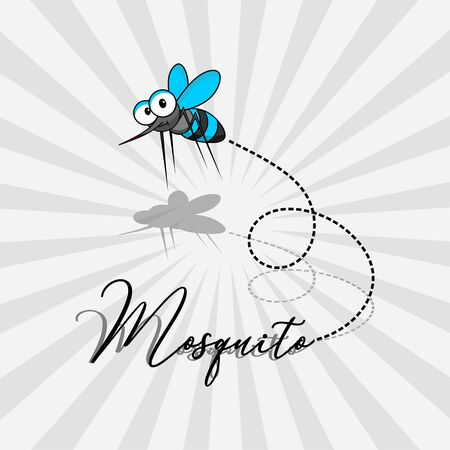 World Mosquito Day Vector Design with flying mosquito