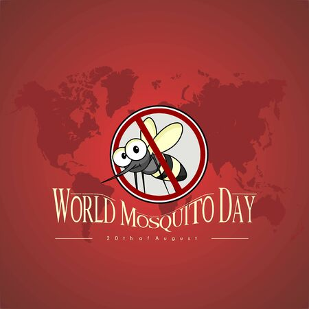 World Mosquito Day Vector Design with stop mosquito icon logo Illustration