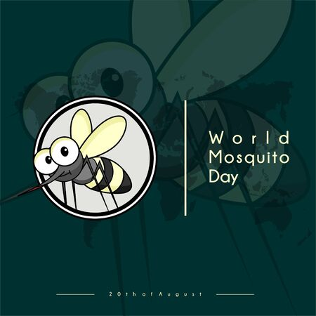 World Mosquito Day Vector Design with mosquito icon logo