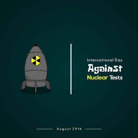 International Day Against Nuclear Test with green background Illustration