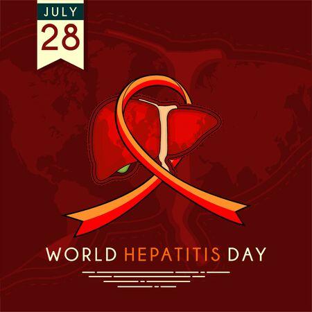 Journée mondiale de l'hépatite avec fond rouge