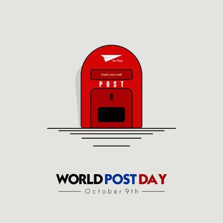 Giornata mondiale della posta con disegno dell'icona della casella postale (casella della posta)