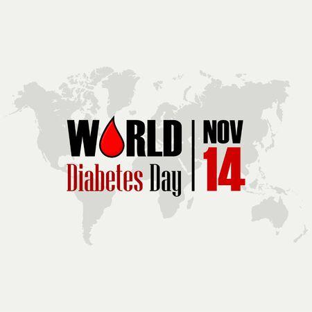 World Diabetes Day Typography, celebrate on November 14th