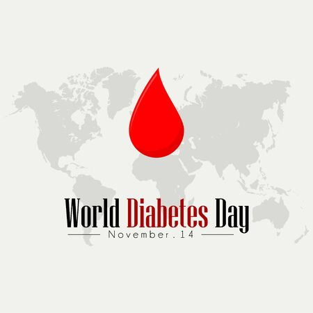 World Diabetes Day, dripping blood Illusztráció