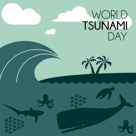 World Tsunami Day, visible from the seashore and marine life