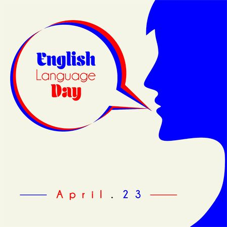 English Language Day with speaking women vector 向量圖像