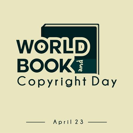 Typography for World Book Copyright day vector design